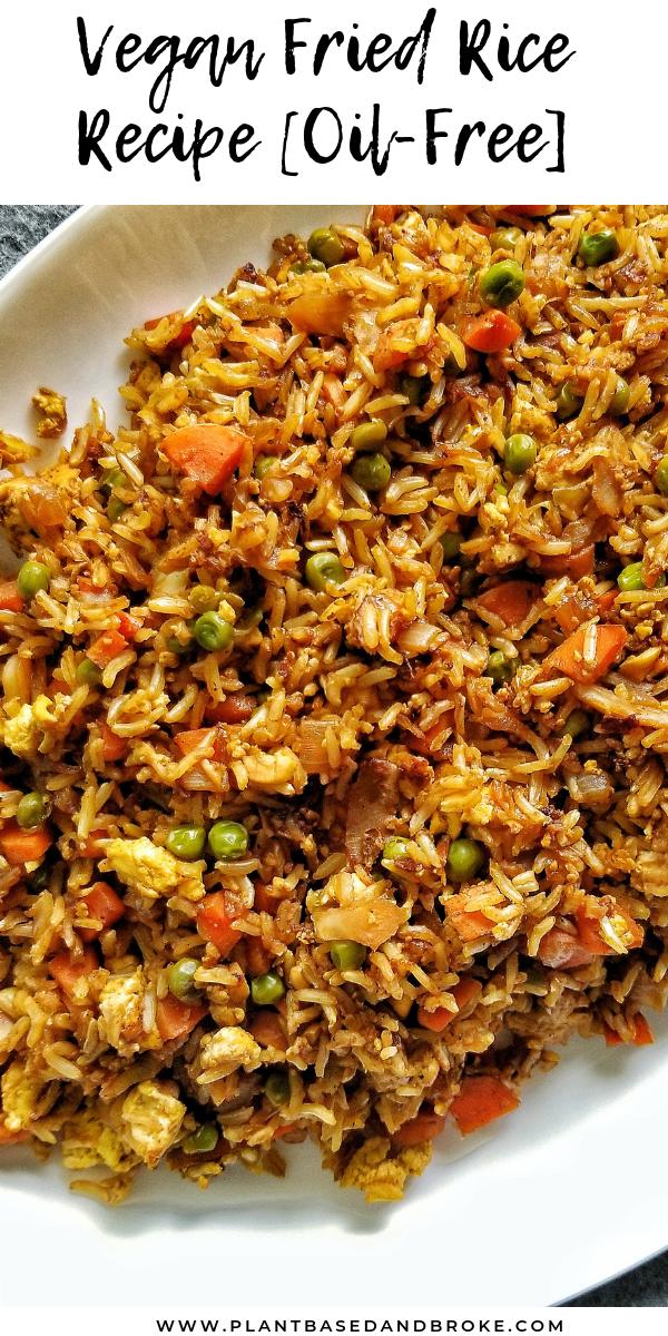 Vegan Fried Rice Recipe (Oil-Free)