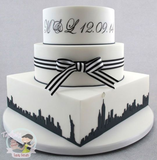 new york themed wedding cake new york themed black amp white wedding cake cake by 17832