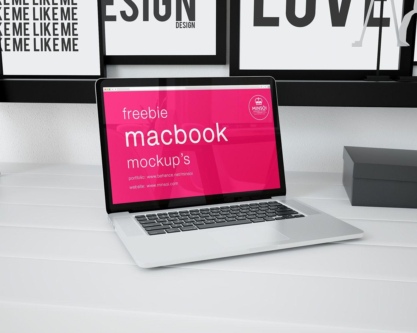 Mockup macbook