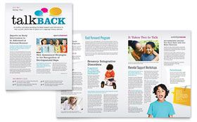 speech therapy education newsletter template newsletter