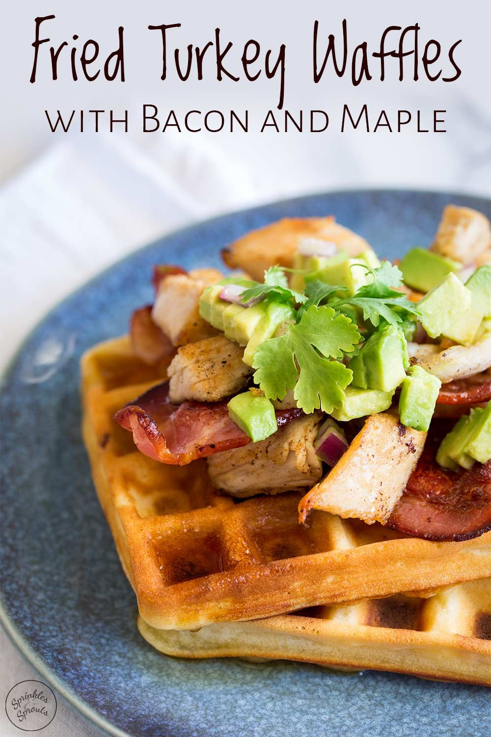 These Fried Turkey Waffles with Bacon and Maple are a fun ...