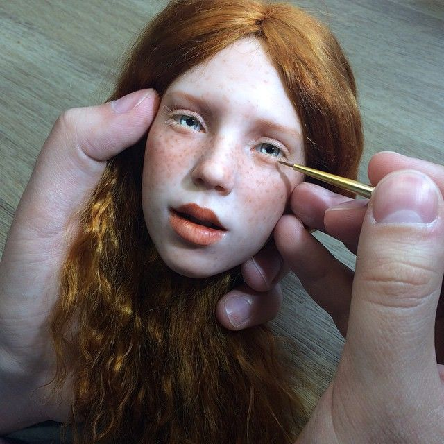 Russian Artist Creates Stunningly Realistic Doll Faces Thatll - Artist creates stunning hyper realistic paintings of women