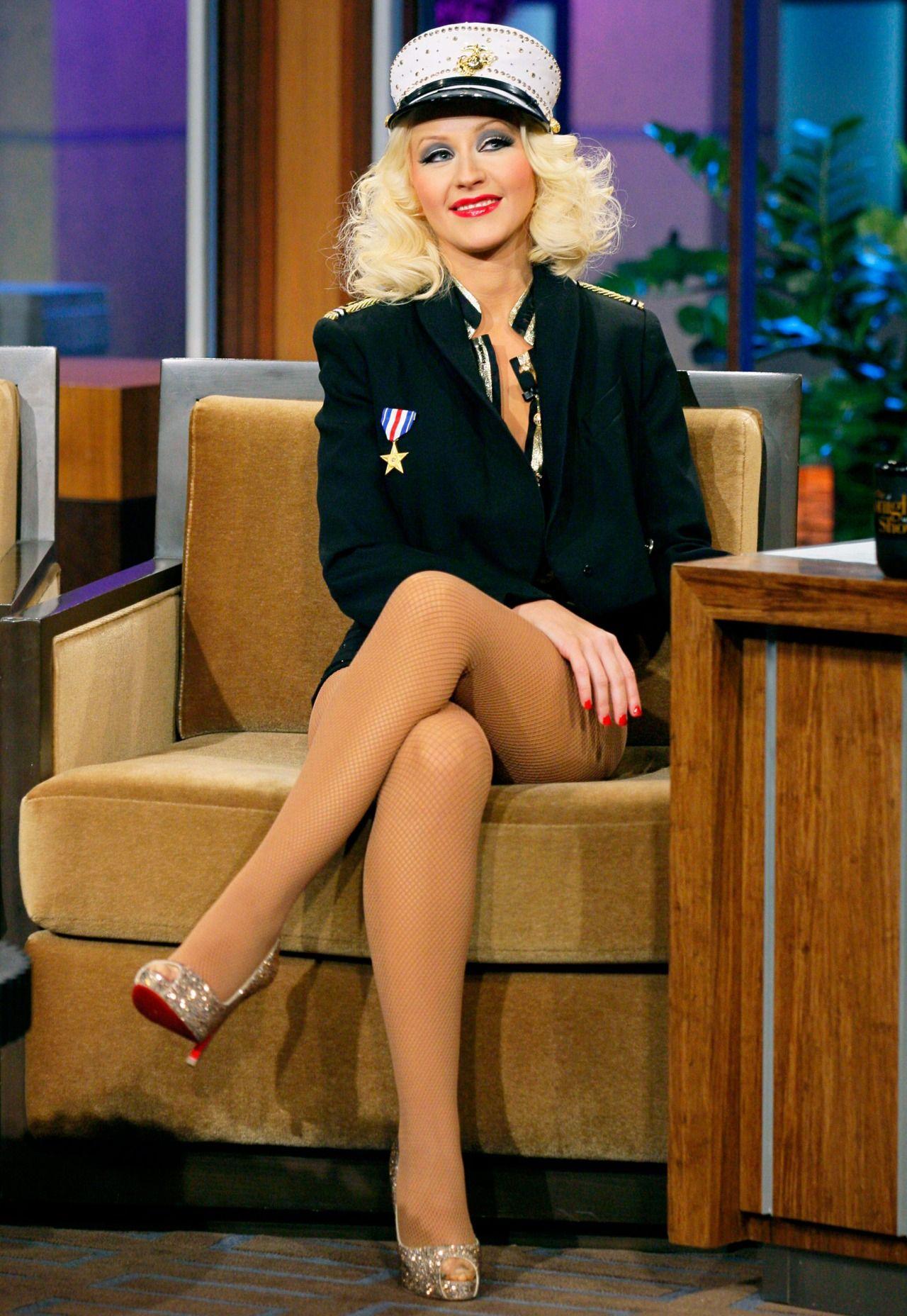 Christina Aguilera Pantyhose Feet