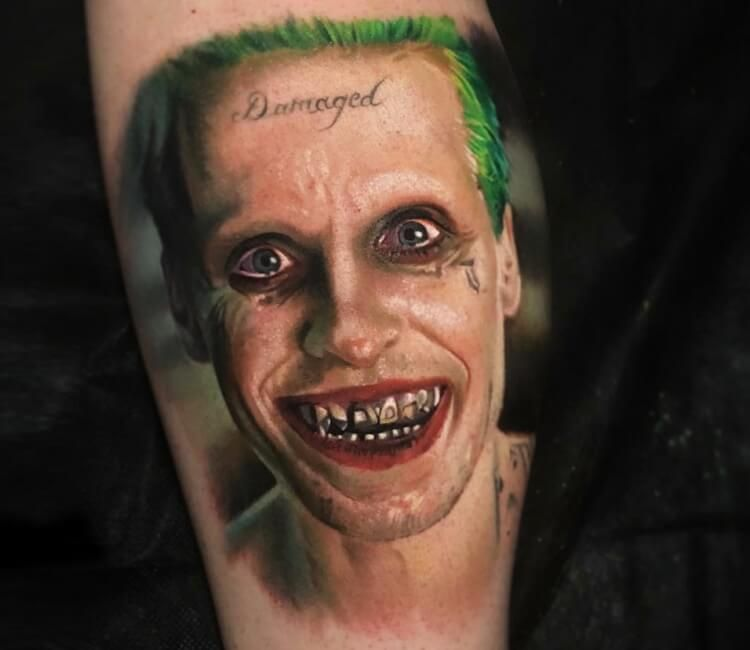 The Joker Tattoo By Paul Acker Post 28010 Joker Tattoo Jared Leto Joker Tattoo Joker And Harley Tattoo