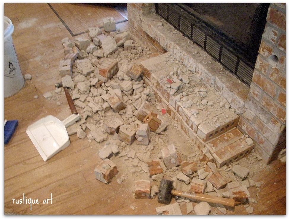 Hearth Demolition Fireplace Hearth Fireplace Remodel Removing Fireplace