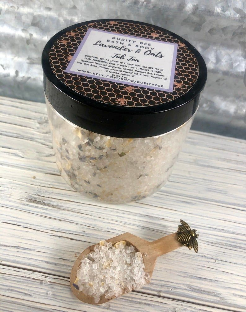 Epsom salt tub teasbath soak bath salts by purity bee