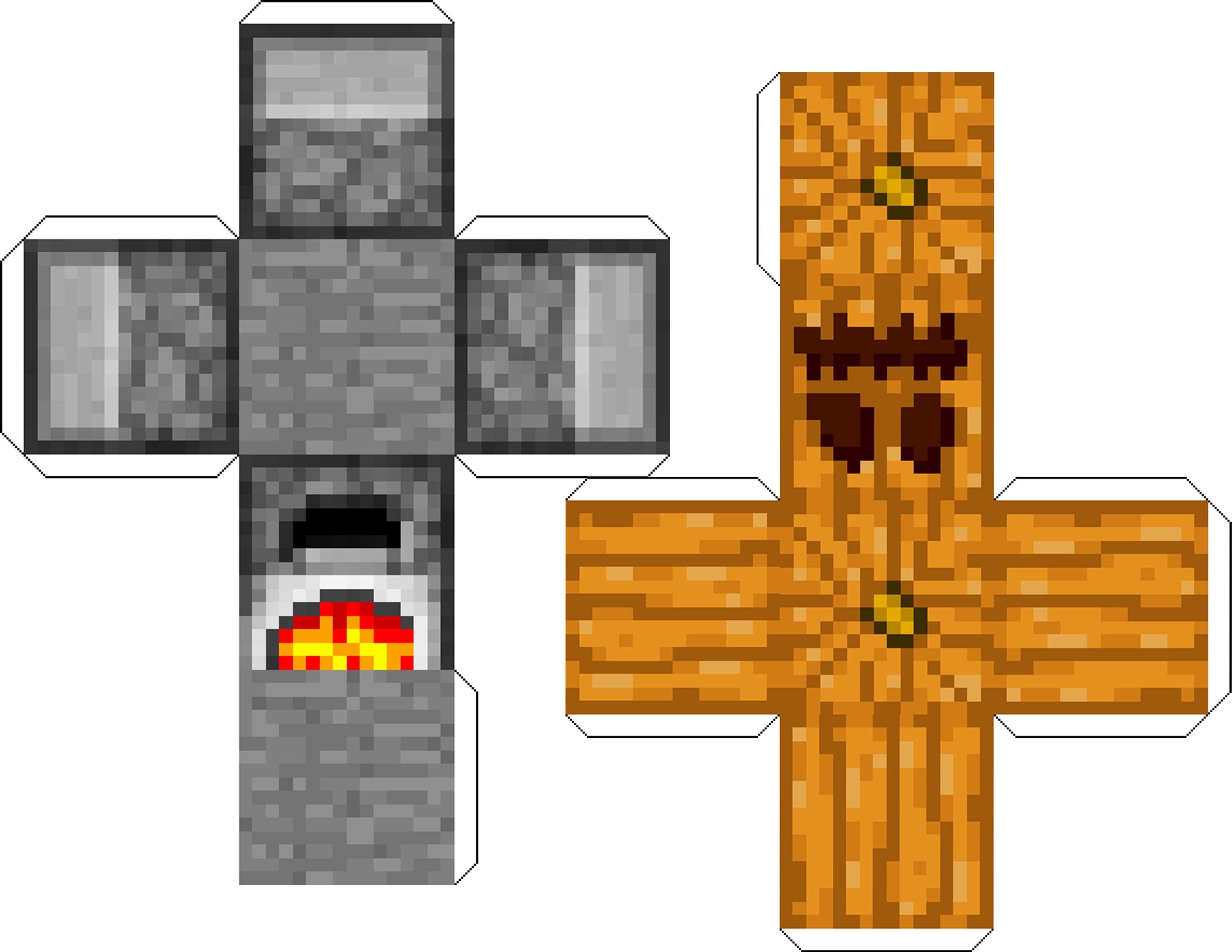 Furnace And Pumpkin Print To 85 X 11 Paper Minecraft