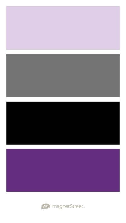 Lavender, Charcoal, Black, and Plum Wedding Color Palette - custom color palette created at MagnetStreet.com