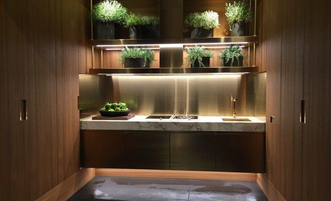 Arclinea Kitchen Bronze Alimunum Material Herbs 400 x 300