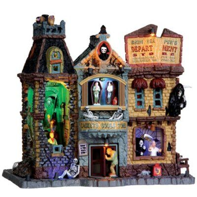 explore department store halloween village and more - Spooky Halloween Store