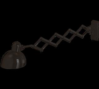 6718 - 6718, Lampe: Lakeret stål, Sort