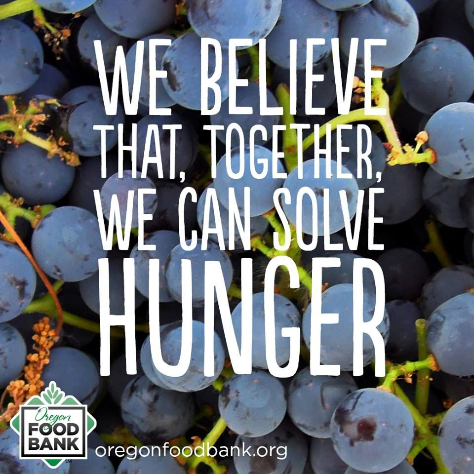 We believe that, together, we can solve hunger. www
