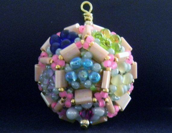 Pretty Garden Pendant in summer pastels.  About by SuziVeeJewelry, $40.00