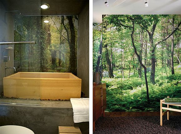 Forest Mural Bathroom