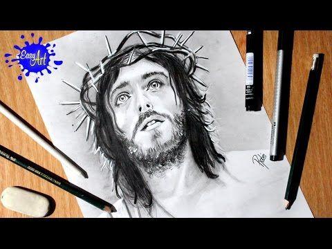 Como Dibujar A Jesus How To Draw Jesus Semana Santa Dios Rostro De Jesus Dibujos De Jesus Fotos De Jesus