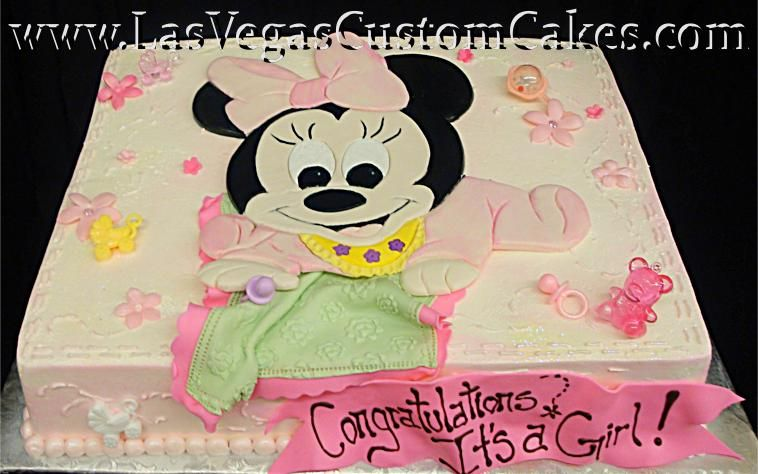 Minnie Mouse Baby Shower Cake Images : Cute baby shower Cake! on Pinterest Baby Shower Cakes ...