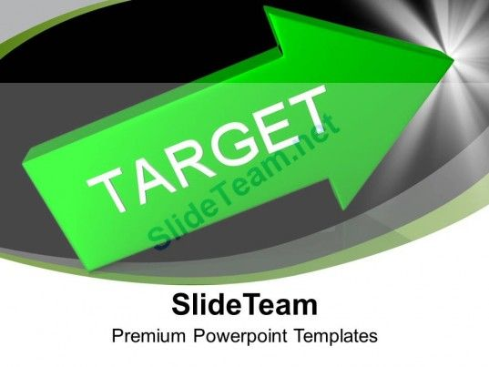 Green arrow with target aim goal powerpoint templates ppt themes and check out this amazing template to make your presentations look awesome at toneelgroepblik Gallery