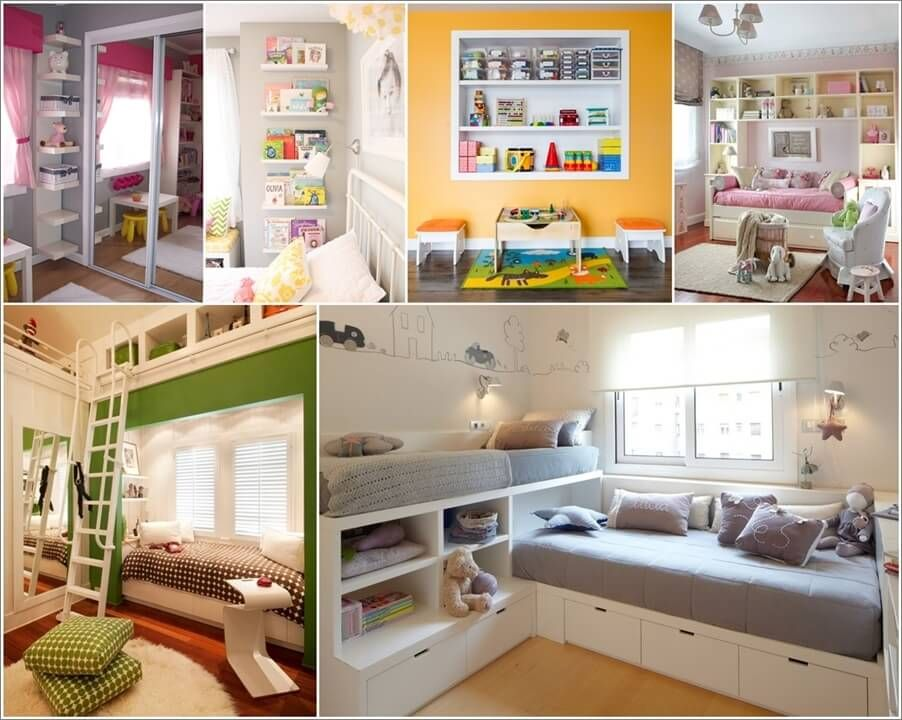 12 Clever Small Kids Room Storage Ideas  *kids' Room*  Pinterest Custom Storage Solutions For A Small Bedroom Design Inspiration