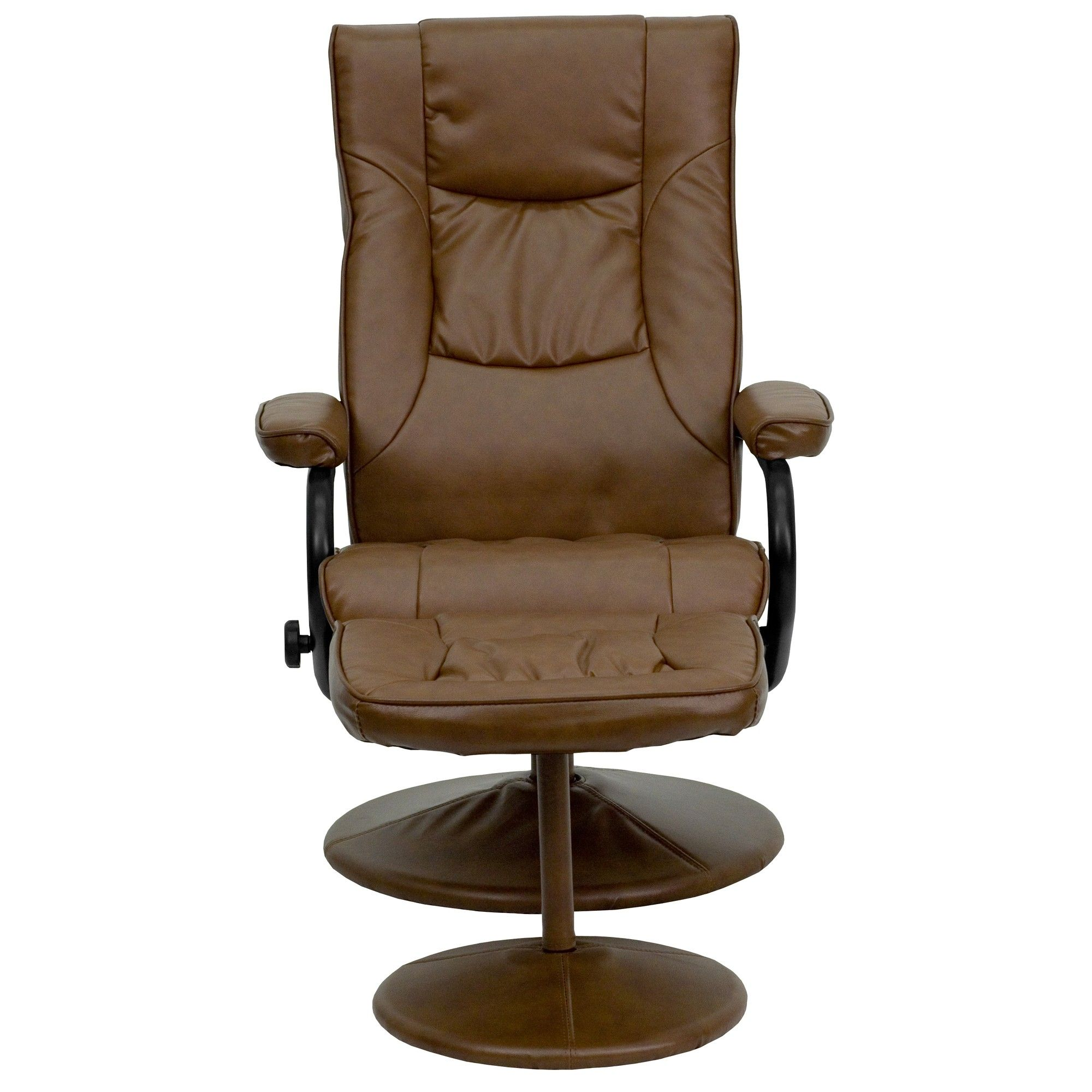 Flash Furniture Contemporary Soft Leather Recliner and Ottoman with Base Color Palimino - BT7862PALIMINO  sc 1 st  Pinterest & Flash Furniture Contemporary Soft Leather Recliner and Ottoman ... islam-shia.org