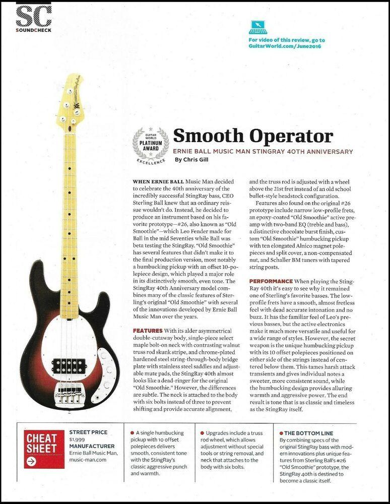 Ernie Ball Music Man Stingray Bass 40th Anniversary Guitar Review