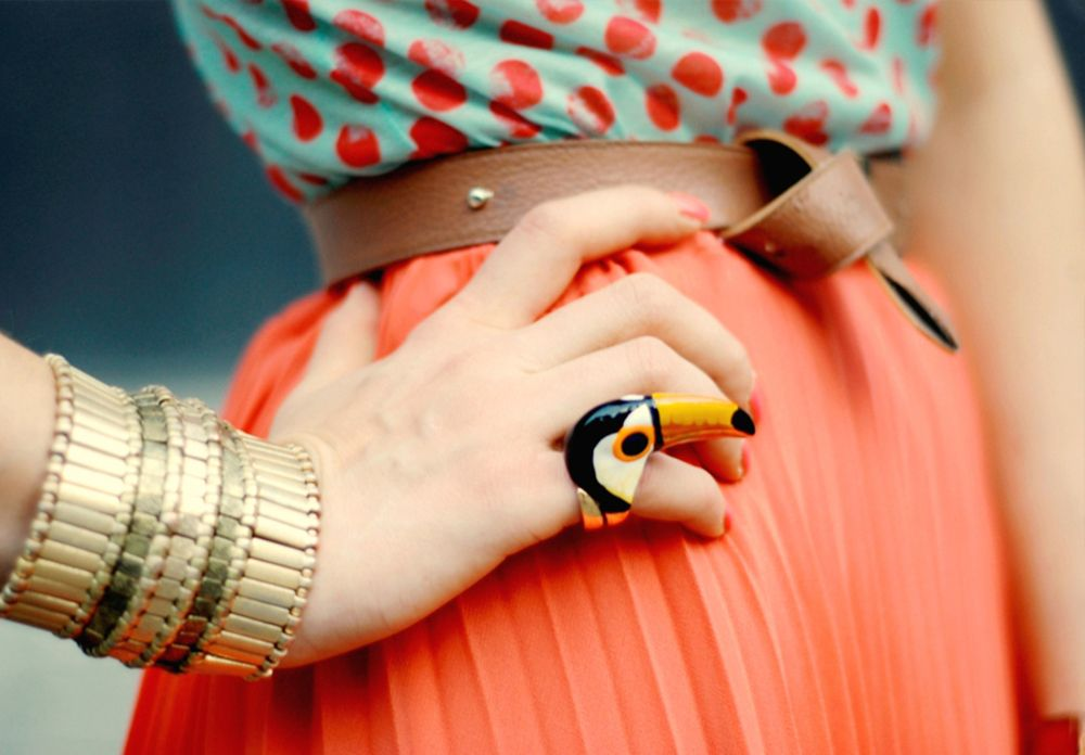 Cool Creative Rings ...I like the way the belt is tied.