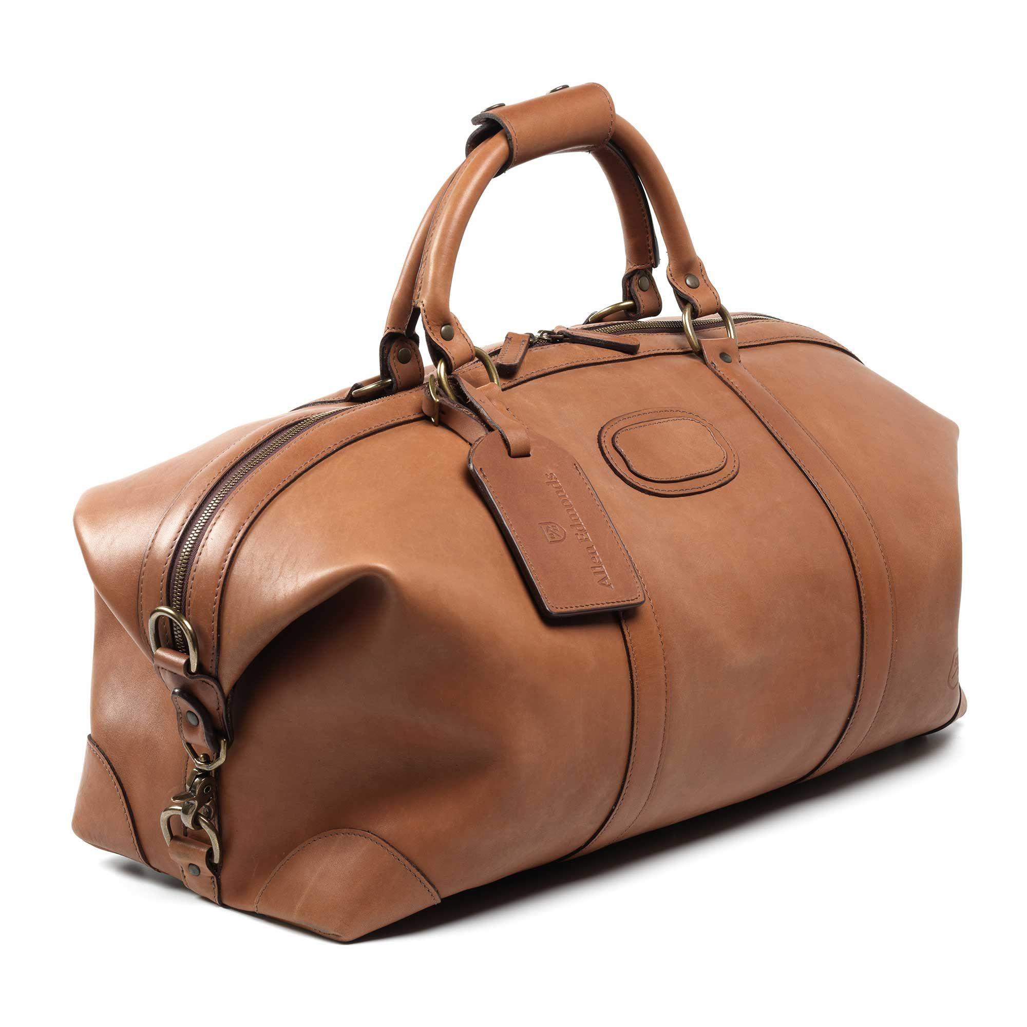 20ccb5360a Tan Saddle Duffle Bag by Allen Edmonds