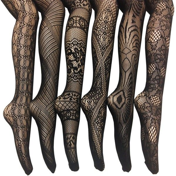 054755e238a Women s Fishnet Lace Stocking Tights ( 23) ❤ liked on Polyvore featuring  plus size women s fashion