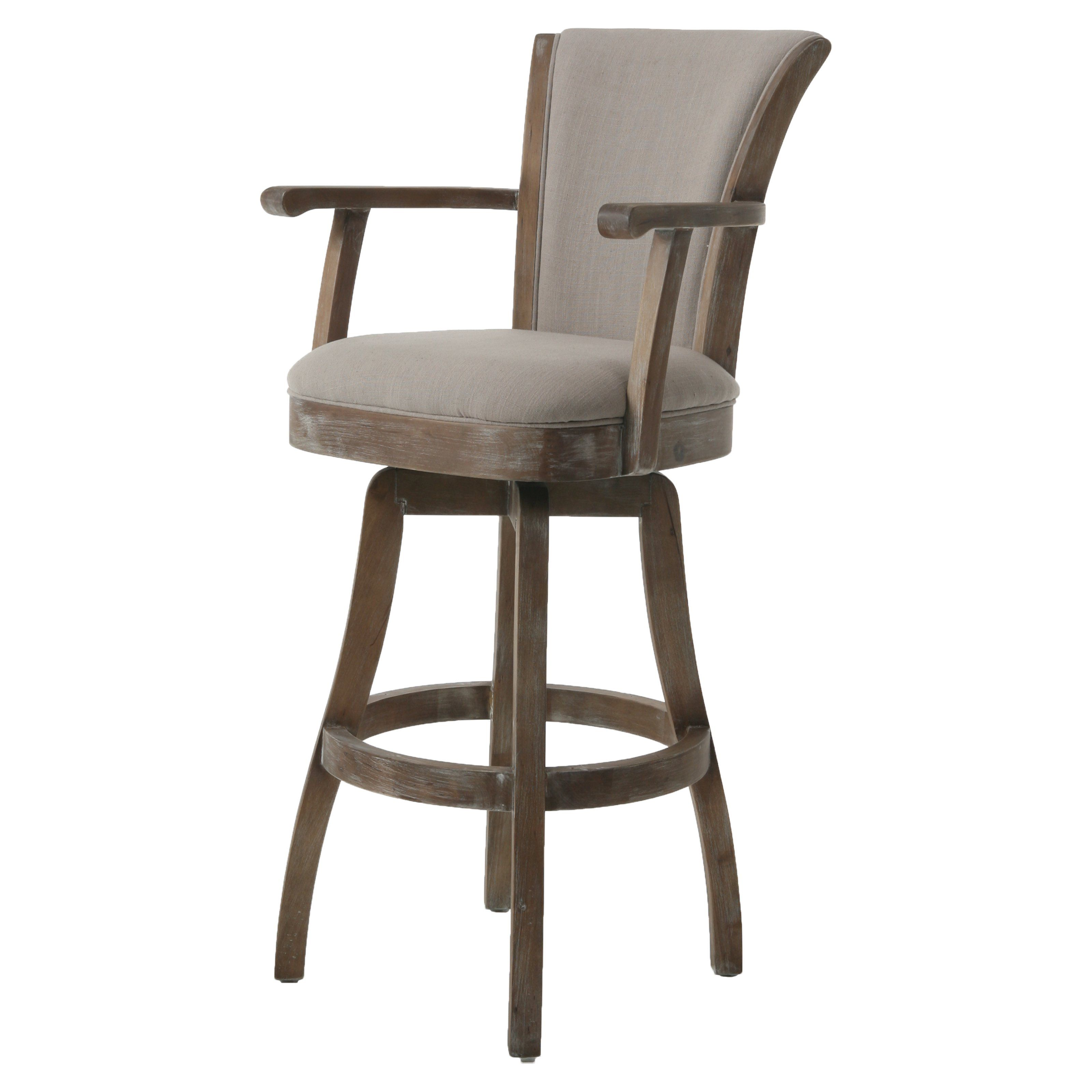 Counter Height Chairs With Arms Impacterra Glenwood Swivel Bar Stool With Arms From Hayneedle