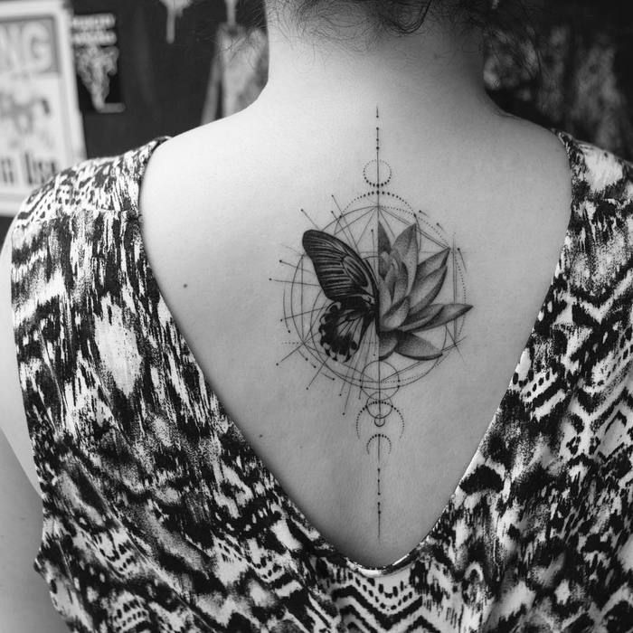 Photo of Halbe Lotus Halbe Schmetterling Tattoo von balazsbercsenyi Halbe Schmetterling Tattoo 100 Tr …