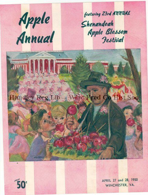Apple Blossom Festival flier from 1950. Find more images from past festival in PastPerfect!