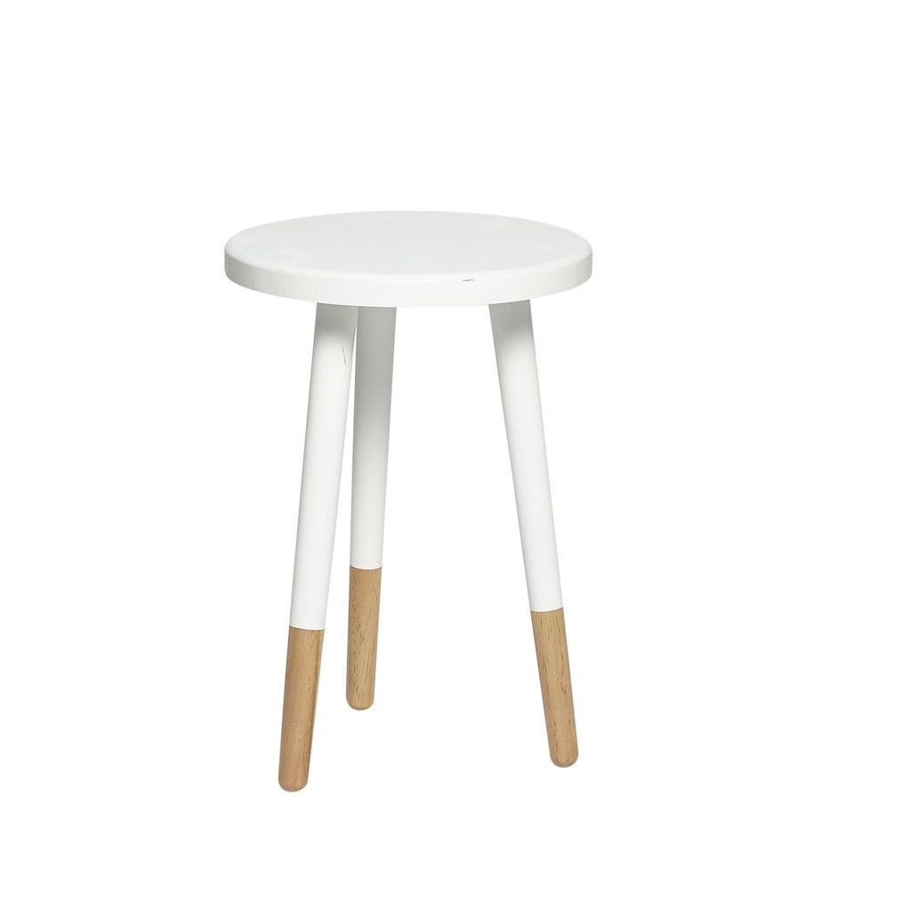 WHITE WOODEN STOOL By Hubsch U2013 LO AND BEHOLD STORE   I Want To Paint My
