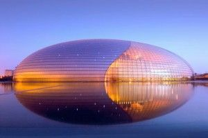 """Bejing grand national theatre (""""The Egg"""") by Paul Andreu"""