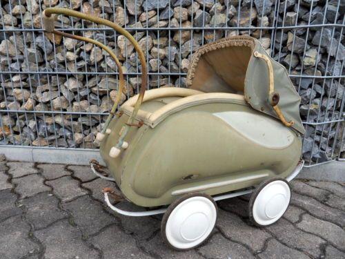 alter-seltener-DDR-Puppenwagen-VEB-Zeitzer-Kinderwagen-Zekiwa-ca-50er-Jahre-rar
