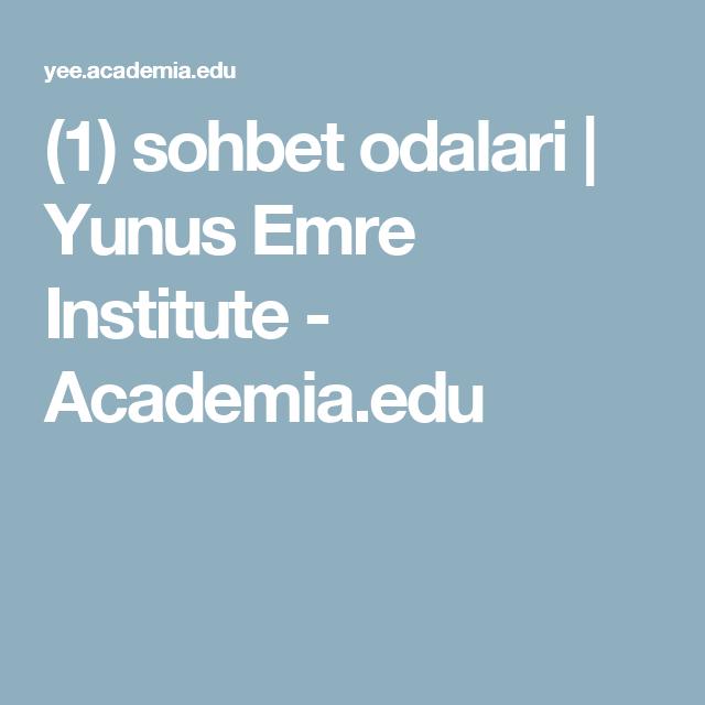 1 Sohbet Odalari Yunus Emre Institute Academia Edu Yunus