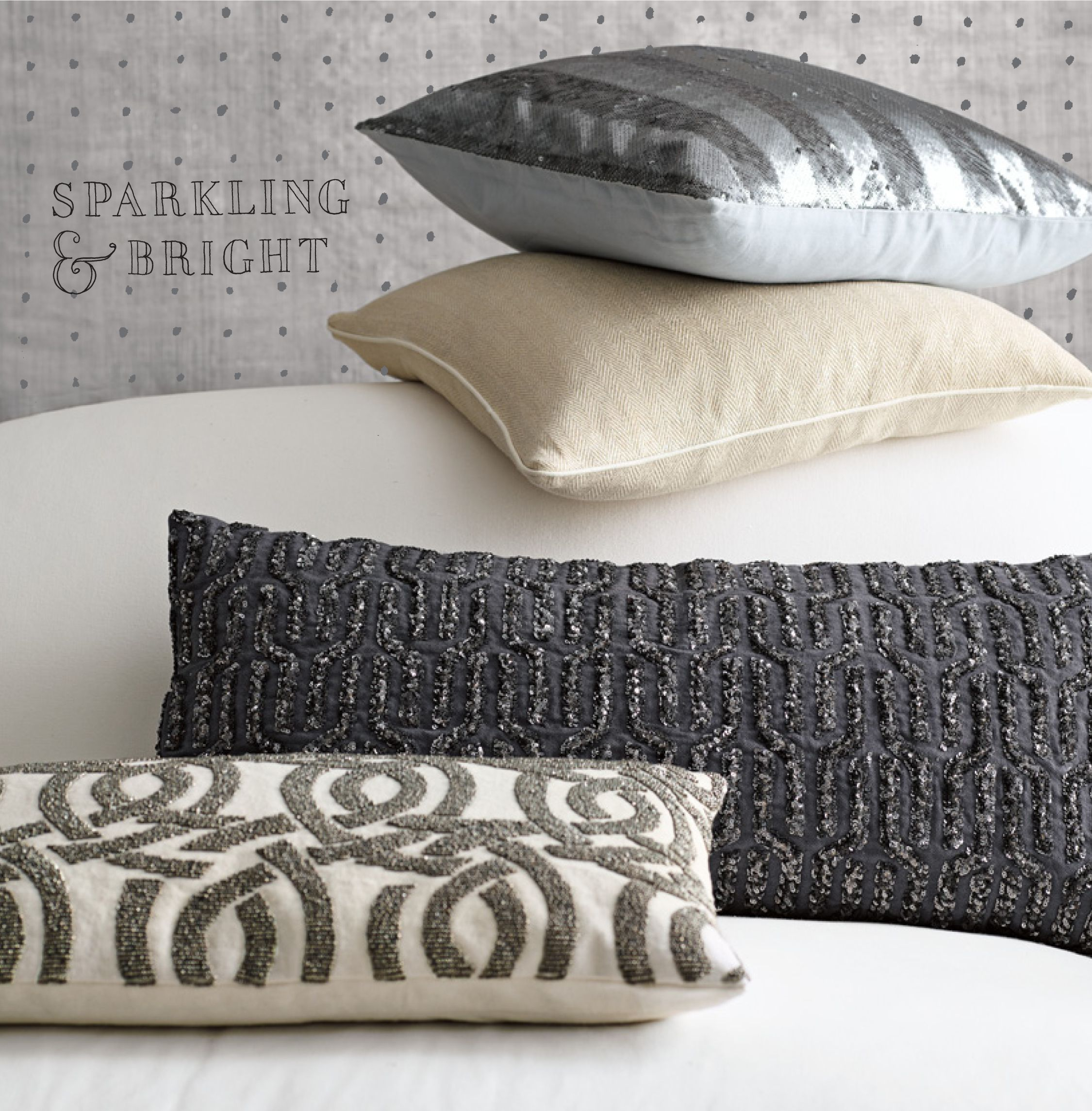 Add a little sparkle to your sofa serenaandlily pillow talk