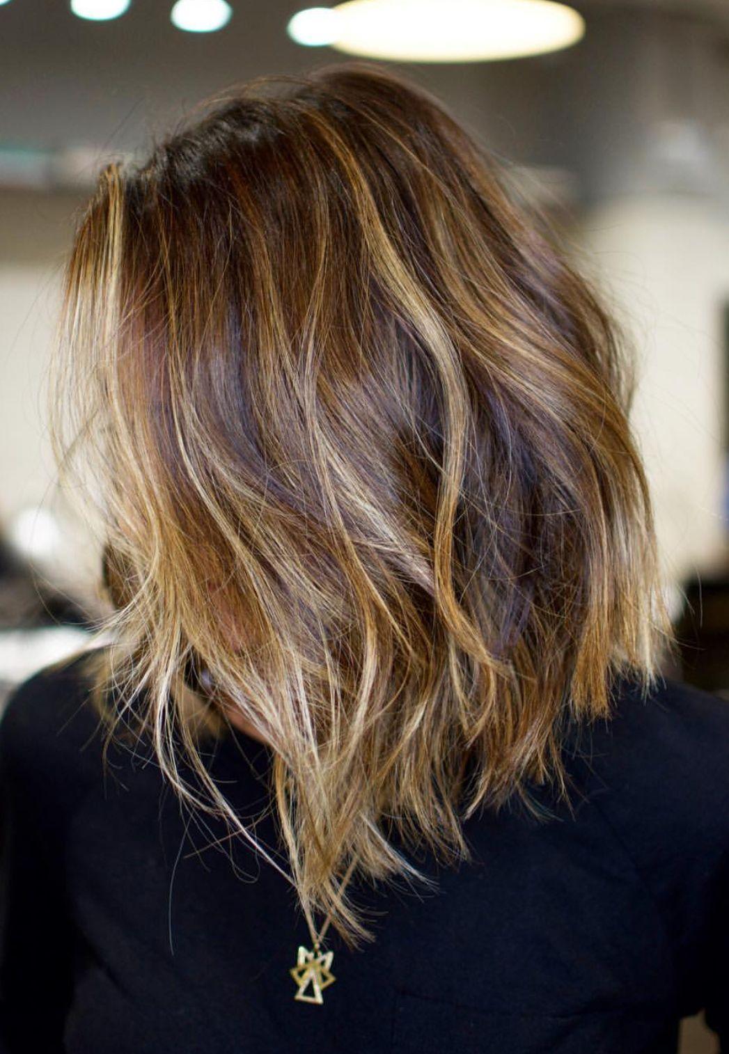 Pinterest: DEBORAHPRAHA ♥️ short asymmetric hair cut with highlights