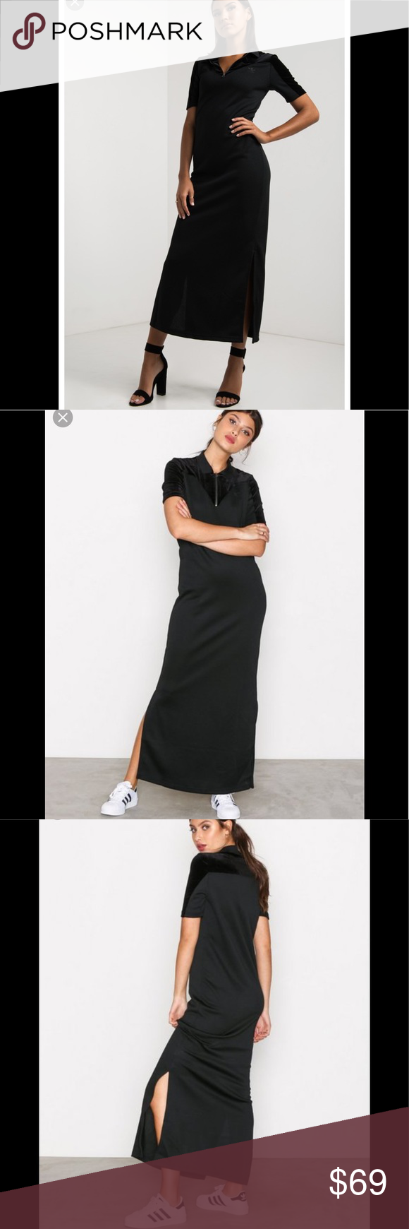 c81660e7612 Adidas VV long T dress velvet vibes polo maxi NWT Brand new with tags Feel  free to ask questions adidas Dresses Maxi