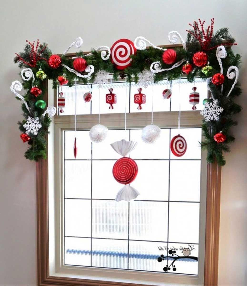 elegant christmas window | christmas decorations | pinterest