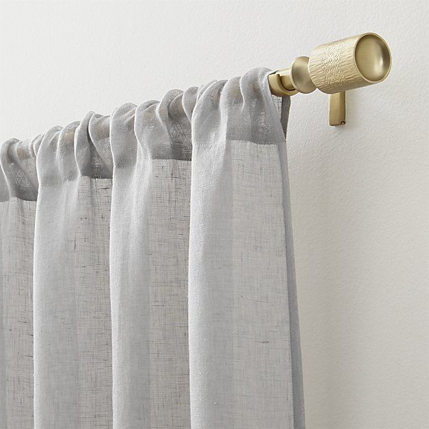 Linen Sheer 52 X84 Natural Curtain Panel Reviews Crate And