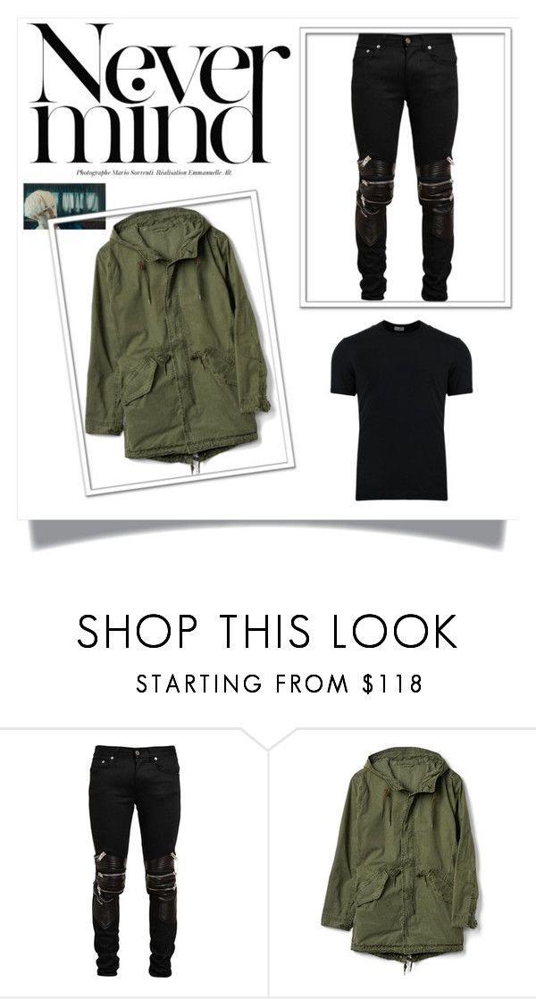 """""""Agust D"""" by mabelitabts on Polyvore featuring Yves Saint Laurent, Gap, Dolce&Gabbana, men's fashion y menswear"""