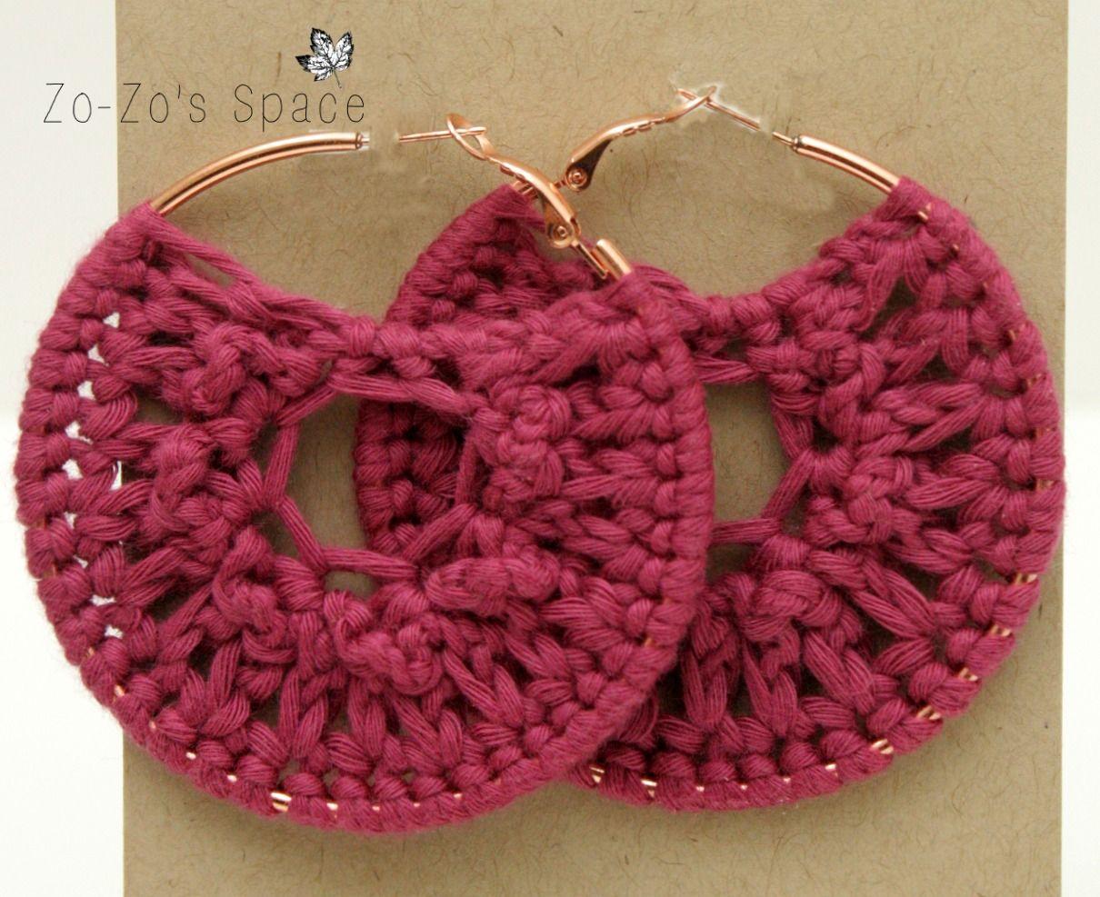 Quick crochet hoop earrings free pattern quick crochet free quick crochet hoop earrings free pattern bankloansurffo Images