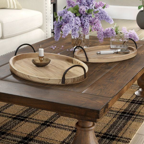 Paull 2 Piece Coffee Table Tray Set (With images) | Wood ...