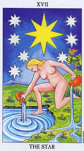 Resultado de imagem para star tarot waite