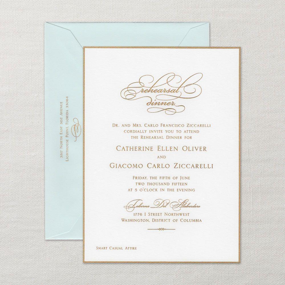 Rehearsal Dinner Invitations | Wedding Party Invitations | Crane.com ...