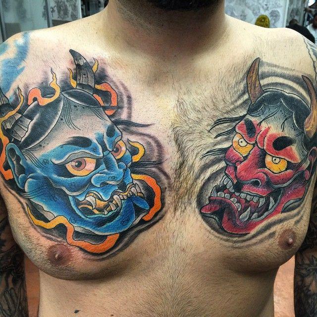 77c0e2bc01ea8 Japanese mask tattoos | Skin art & ideas | Japanese mask tattoo ...