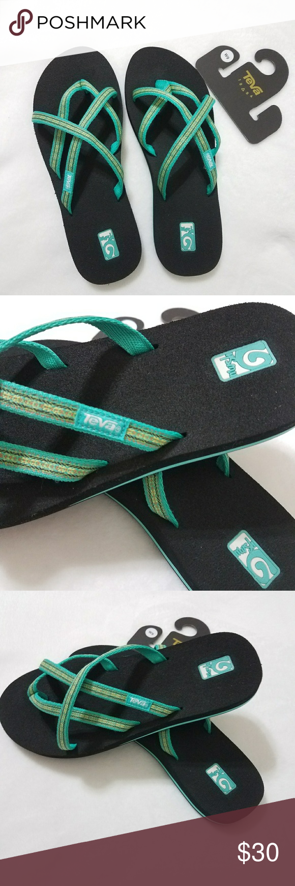 980ef4b65 Teva Olowahu Mush Flip Flops Synthetic sole W on the product packaging  refers to Womens Cushy