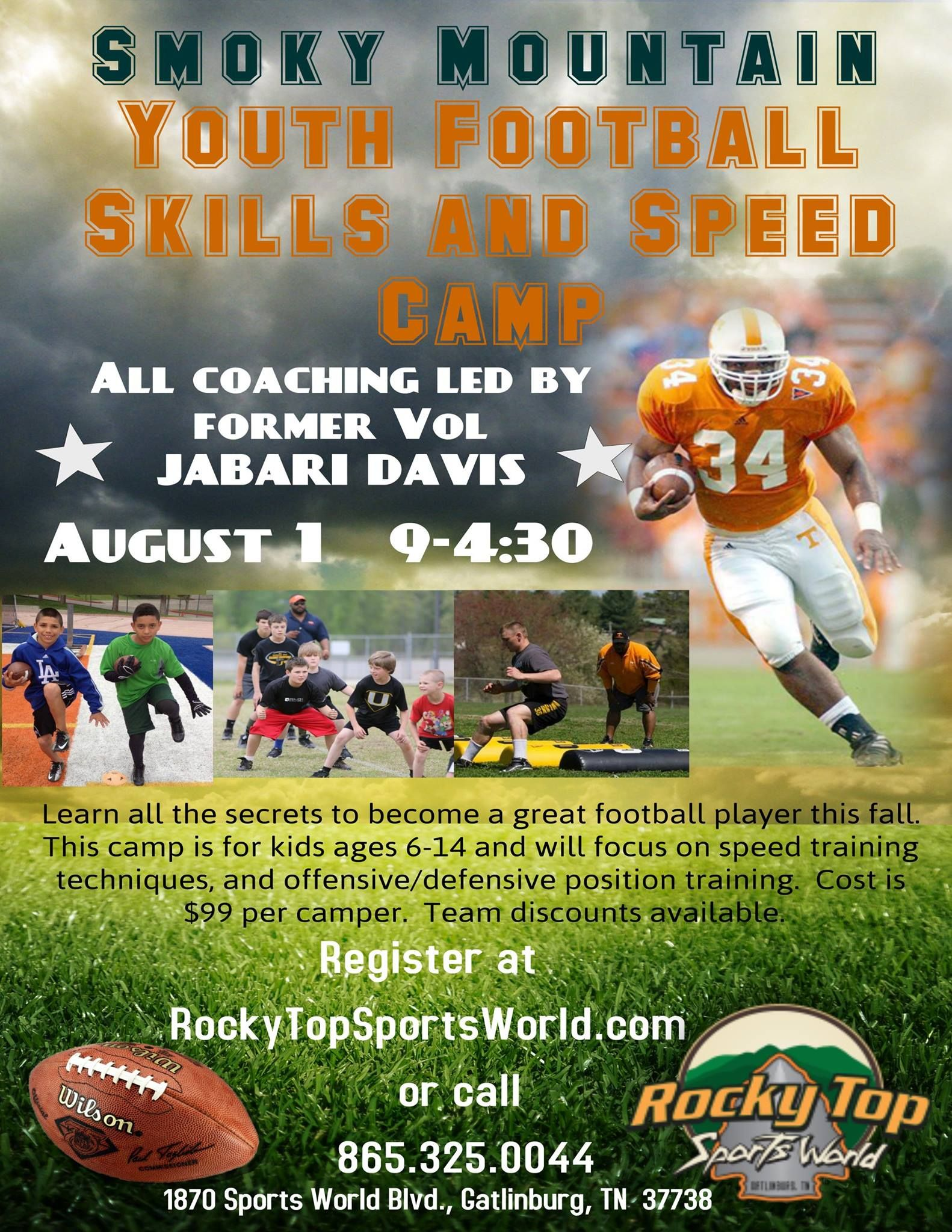 Smoky Mountain Youth Football Skills and Speed Camp