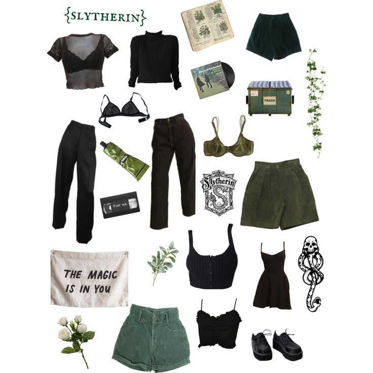 Outfit Inspiration: slytherin aesthetic -   11 style Aesthetic punk ideas