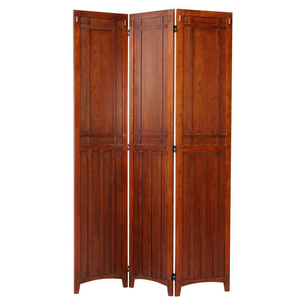 Artisan light oak rustic panel folding screen screens and products