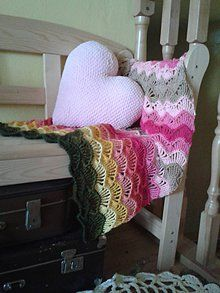 Detské doplnky - Deka a vankúšik - 6039826_striped crochet multicolor blanket for baby girl